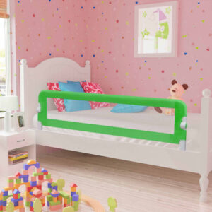 vidaXL Toddler Safety Bed Rail 2 pcs Green 150×42 cm