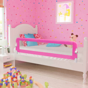 vidaXL Toddler Safety Bed Rail 2 pcs Pink 150×42 cm
