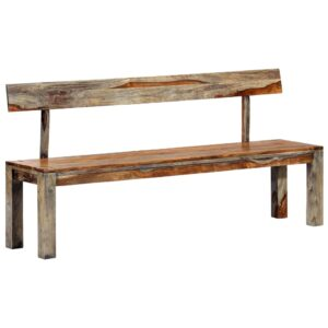 vidaXL Bench 160 cm Grey Solid Sheesham Wood