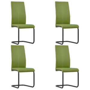 vidaXL Dining Chairs 4 pcs Green Faux Leather