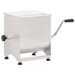 vidaXL Meat Mixer with Gear Box 44 L Silver Stainless Steel