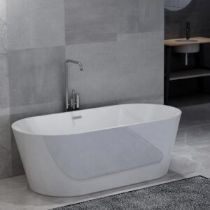 vidaXL Freestanding Bathtub White Acrylic 220 L