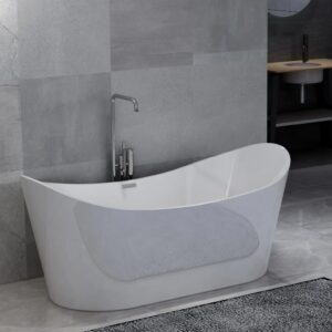 vidaXL Freestanding Bathtub White Acrylic 204 L