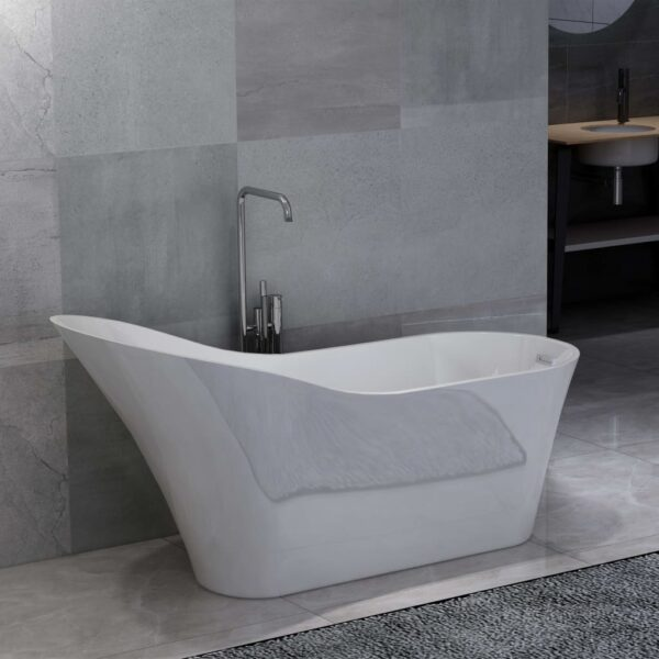 vidaXL Freestanding Bathtub White Acrylic 210 L