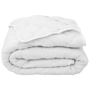 vidaXL Quilted Mattress Protector White 160×200 cm Heavy