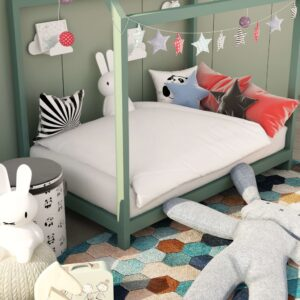 vidaXL 2 Piece Kids Summer Duvet Set White 120×150 cm/40×60 cm