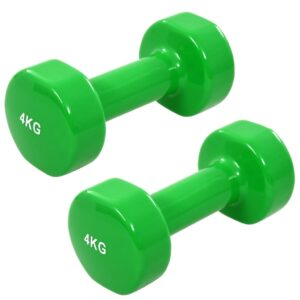 vidaXL Dumbbell 2 pcs 8 kg Cast Iron Green
