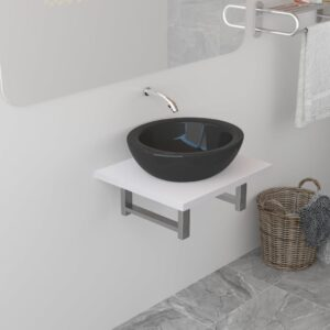 vidaXL Bathroom Wall Shelf for Basin White 40x40x16.3 cm