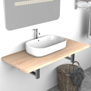 vidaXL Bathroom Wall Shelf for Basin Oak 90x40x16.3 cm