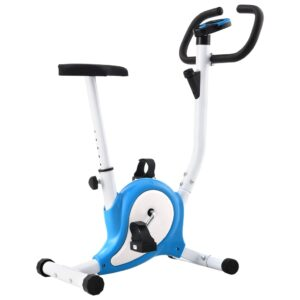 vidaXL Exercise Bike with Belt Resistance Blue