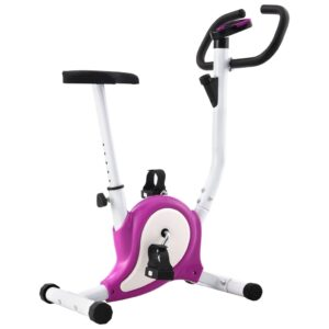 vidaXL Exercise Bike with Belt Resistance Purple