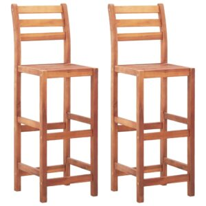 vidaXL Bar Chairs 2 pcs Solid Acacia Wood