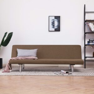 vidaXL Sofa Bed Brown Fabric