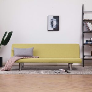 vidaXL Sofa Bed Green Fabric