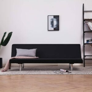 vidaXL Sofa Bed Black Fabric