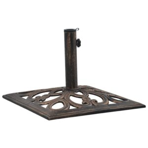 47868 vidaXL Umbrella Base Bronze 12 kg 49 cm Cast Iron
