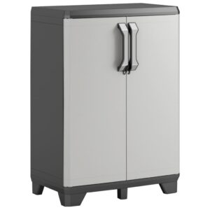 """Keter Base Cabinet """"Gear"""" Black and Grey 68x39x97 cm"""