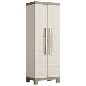 """Keter Tall Cabinet """"Excellence"""" Beige and Taupe 65x45x182 cm"""