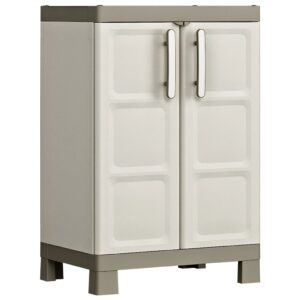 """Keter Base Cabinet """"Excellence"""" Beige and Taupe 65x45x97 cm"""