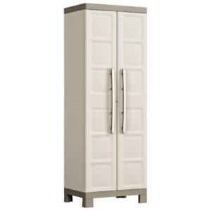 """Keter Utility Cabinet """"Excellence"""" Beige and Taupe 65x45x182 cm"""