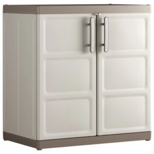 """Keter Base Cabinet """"Excellence XL"""" Beige and Taupe 89x54x93 cm"""
