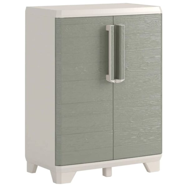 """Keter Base Cabinet """"Wood Grain"""" Cream and Taupe 68x39x97 cm"""