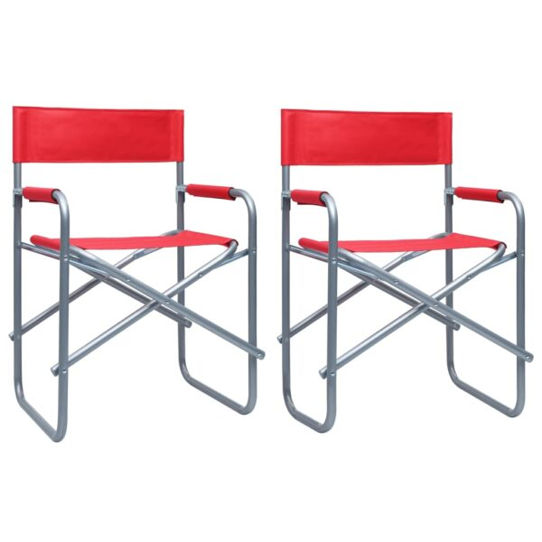 vidaXL Director's Chairs 2 pcs Steel Red