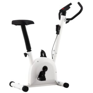 vidaXL Exercise Bike with Belt Resistance White