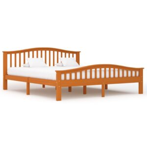 vidaXL Bed Frame Honey Brown Solid Pinewood 180×200 cm
