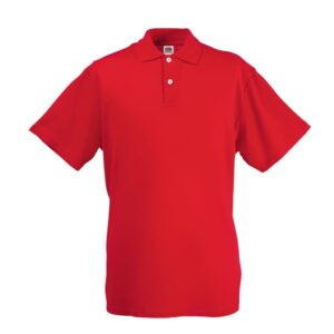 Fruit of the Loom 5 pcs Original Men's Polo Shirts Red S