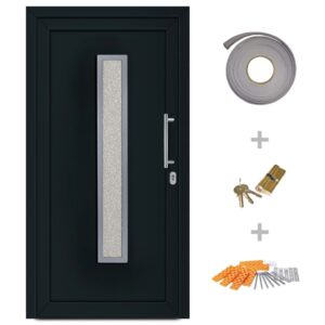 vidaXL Front Entrance Door Anthracite 108×208 cm