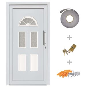 vidaXL Front Entrance Door White 88×208 cm