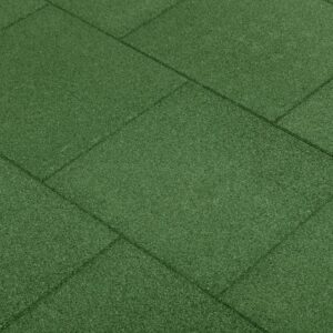 vidaXL Fall Protection Tiles 6 pcs Rubber 50x50x3 cm Green