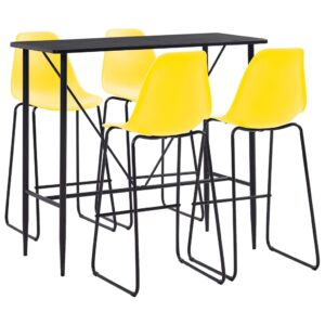 vidaXL 5 Piece Bar Set Plastic Yellow