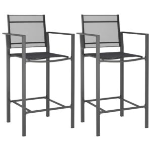 vidaXL Bar Chairs 2 pcs Anthracite Texilene