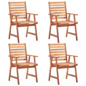 vidaXL Outdoor Dining Chairs 4 pcs Solid Acacia Wood