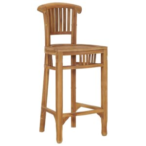 vidaXL Bar Chair Solid Teak Wood