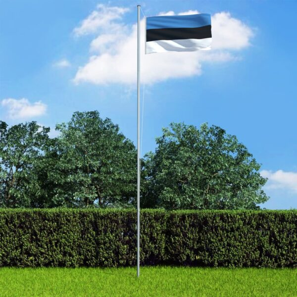 vidaXL Estonia Flag and Pole Aluminium 6,2 m