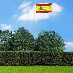 vidaXL Spain Flag and Pole Aluminium 6,2 m