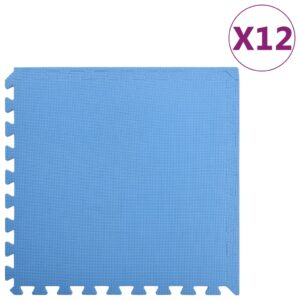 vidaXL Floor Mats 12 pcs 4.32 ㎡ EVA Foam Blue