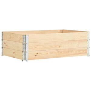 vidaXL Raised Beds 3 pcs 50×150 cm Solid Pine Wood (310055)