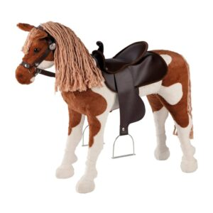 Happy People Toy Horse Western with Sound Brown and White