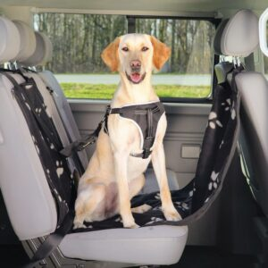 TRIXIE Car Seat Cover for Dogs 65×145 cm Black and Beige 13231