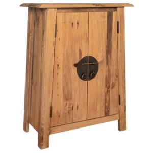 vidaXL Bathroom Side Cabinet Solid Recycled Pinewood 59x32x80 cm