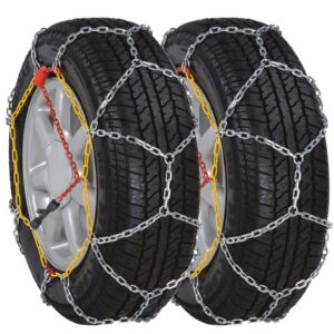 2 Car Snow Chains 12mm KN90 205/55-16 205/65-15 205/50-17 215/45-17