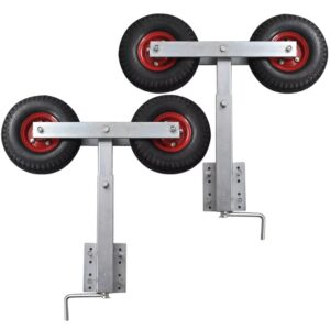 Boat Trailer Double Wheel Bow Support Set of 2 59 – 84 cm