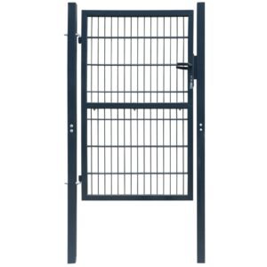 2D Fence Gate (Single) Anthracite Grey 106 x 210 cm