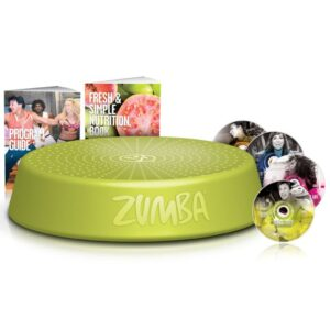 Zumba Step Riser with 4 Workout DVDs Green ZUS001
