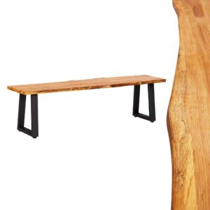 vidaXL Bench 160 cm Natural Solid Oak Wood