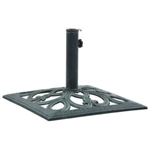 47866 vidaXL Umbrella Base Green 12 kg 49 cm Cast Iron